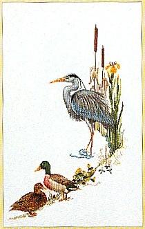 Blue Heron With Mallards,GOK955,Thea Gouverneur