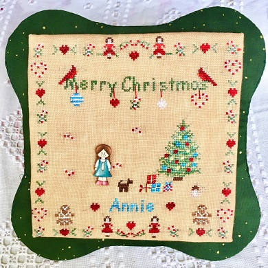 All Children Love Christmas -Girl (includes button) by MTV Designs