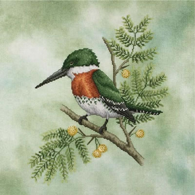 Crossed Wing Collection Green Kingfisher