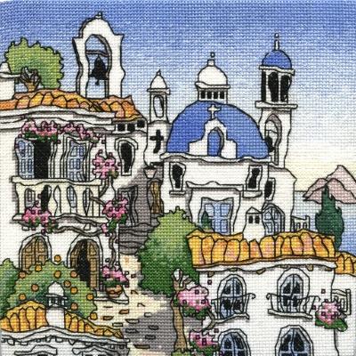 Greek Village I - MPCP59 - Michael Pawell Art