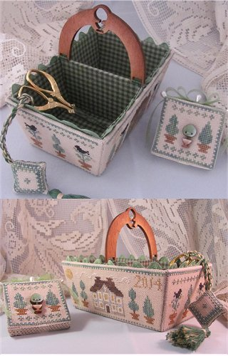 Green Days Sewing Basket MDD-GDSB by Mani di Donna