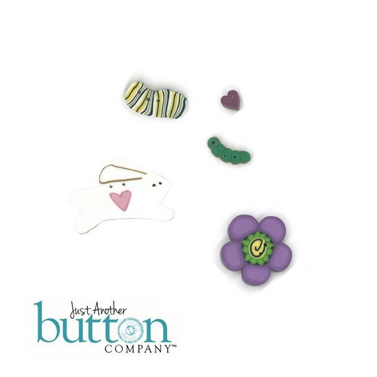 BUTTON PACK - HORRAY SPRING - Praiseworthy Stitches