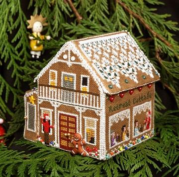 The Victoria Sampler Gingerbread Retreat Cottage