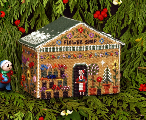 Gingerbread Flower Shop by The Victoria Sampler