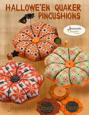 Halloween Quaker Pincushions by Jeannette Douglas Designs