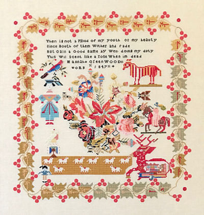 Queenstown Sampler Designs Hannah Greenwood 1847 England