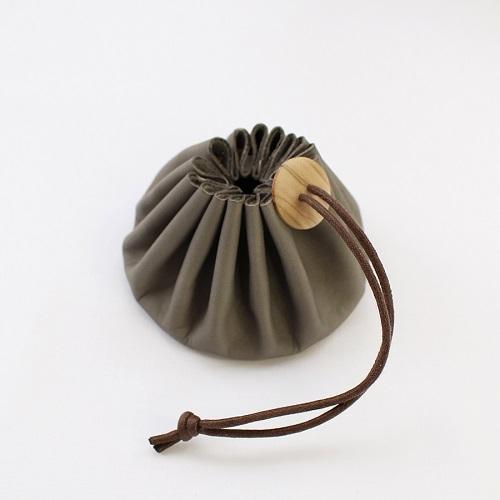 Himeji Leather Pouch (Grey)