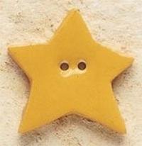 Debbie Mumm Buttons - 43169 - Honey Gold Star