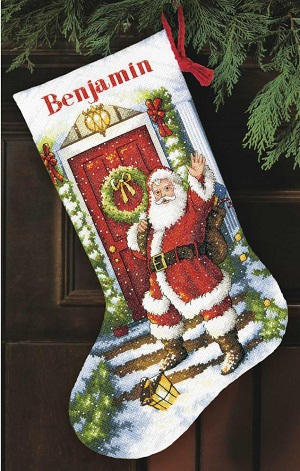 Welcome Santa stocking-70-08901- by Dimensions
