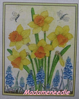 Daffodills- printed panel by Di van Niekerk