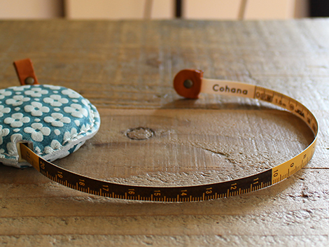 Tape Measure of Yuzen Leather (Blue)