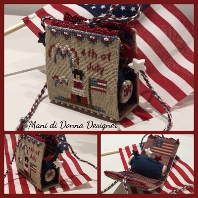 Independence Day Pincushion MDD-IDP by Mani di Donna