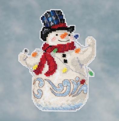 Jim Shore Snowman with lights,JS201611