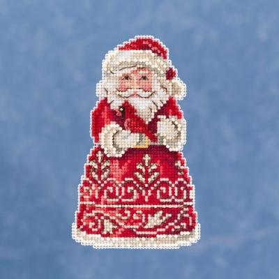Santa With Cardinal ,JS201913, by Jim Shore