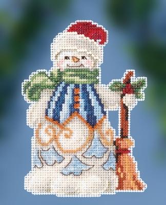 Jim Shore JS202013 Clean Sweep Snowman