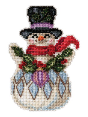 Jim Shore JS202115 Snowman with Holly