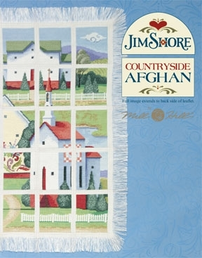 Countryside Afghan,JSP004,by Jim Shore/Mill Hill