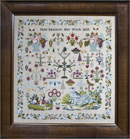 Jane Bannister 1855 by Hands Across The Sea Samplers
