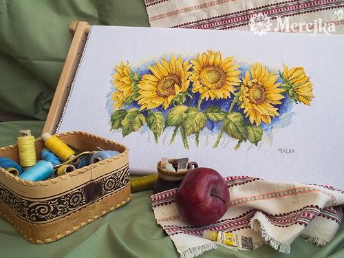 Bright sunflowers,K-125,by Merejka