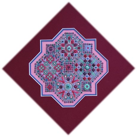 Threedles Needleart Designs A different view Koral Kiss version- THREADS and BEADS