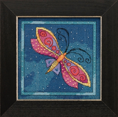 Dragonfly Capri -  Flying Colors,LB141911,by Laurel Burch/Mill Hill