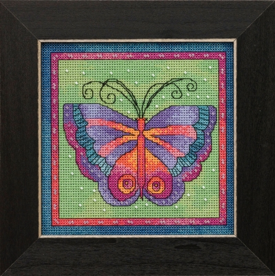 Butterfly Lime -  Flying Colors,LB141912,by Laurel Burch/Mill Hill