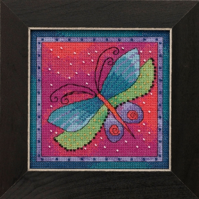 Dragonfly Fushia -  Flying Colors,LB141913,by Laurel Burch/Mill Hill