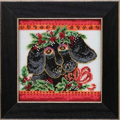 Christmas Puppy-  Christmas Pets,LB302013,by Mill Hill