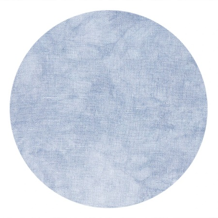 COLOUR AND COTTON Hand Dyed Fabric - LIGHT DENIM,18 X27,32 CT LINEN