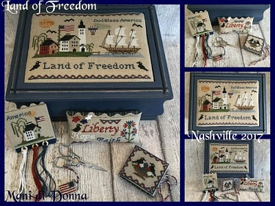 Land of Freedom Sewing Box MDD-LOFSB by Mani di Donna