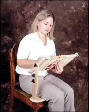 Sit -on needlework frame