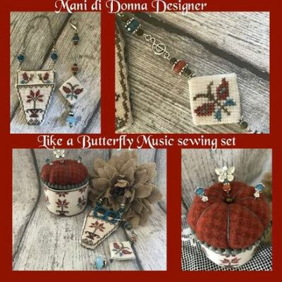 Like a Butterfly Music Sewing Set MDD-LABMSS by Mani di Donna