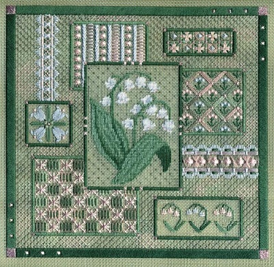Lily of the Valley collage by Laura J.Perin Designs