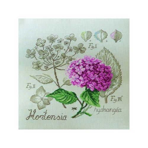Les Brodeuses Parisiennes - Linen Hydrangea Study (maxi-pattern)