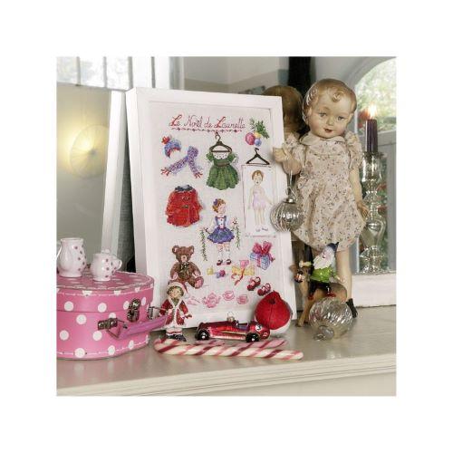 """Les Brodeuses Parisiennes - Linen """"Merry Christmas Laurette ! """""""