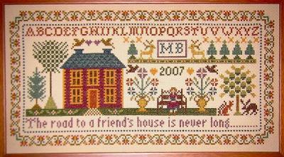 Moira Blackburn Friend's House Sampler