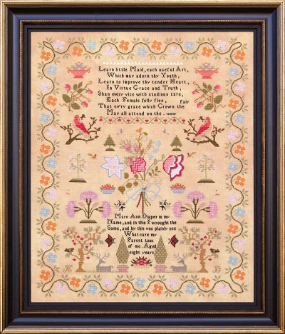 Hands Across the Sea Samplers Mary Ann Diaper 1826