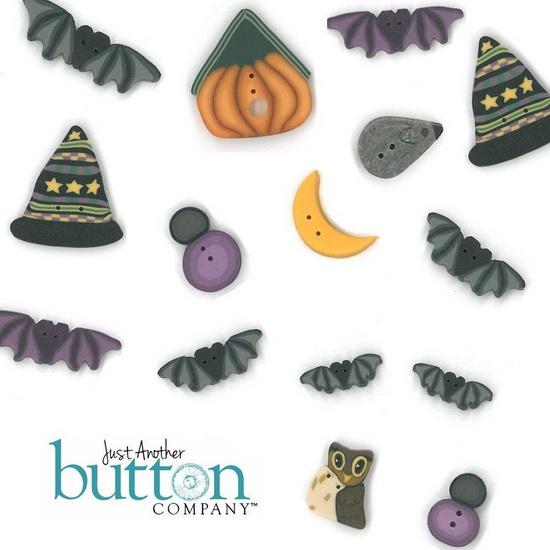 BUTTON PACK - MIDNIGHT FRIGHT - Praiseworthy Stitches