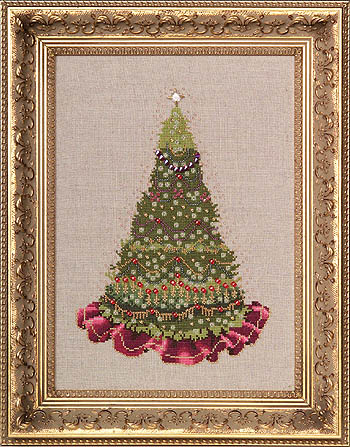 Christmas Tree 2006 (w/beads & treasures) by Nora Corbett