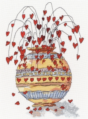 Pots of Love I-MPKX28-Michael Powell Art