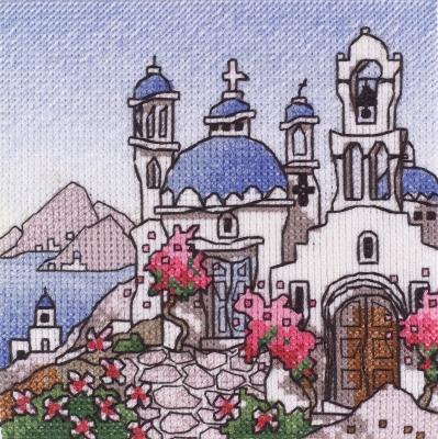 Michael Powell Art Mini Greek Island II-MPKX69