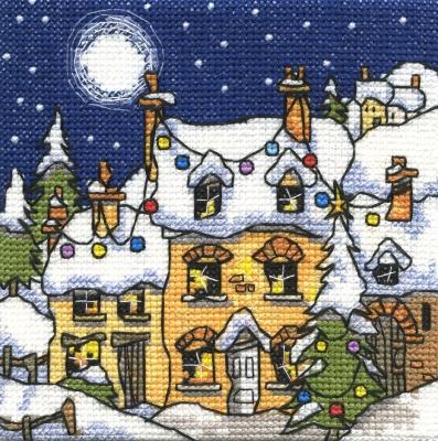 Michael Powell Art Mini Snowy Cottage-MPKX75A