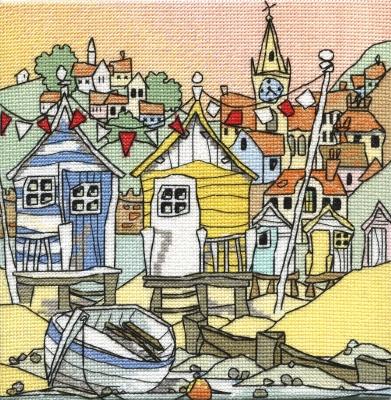Michael Powell Art Beach Huts III-MPKX81