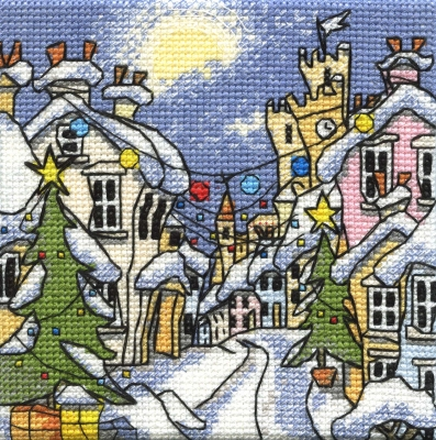 Michael Powell Art Mini Snowy Street-MPKX93