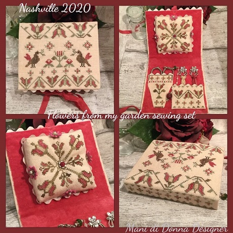 Flowers of my garden sewing set by Mani di Donna