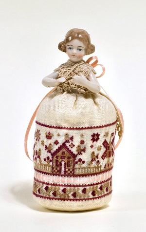 A Miniature Dutch Pincushion Doll by Giulia Punti Antichi
