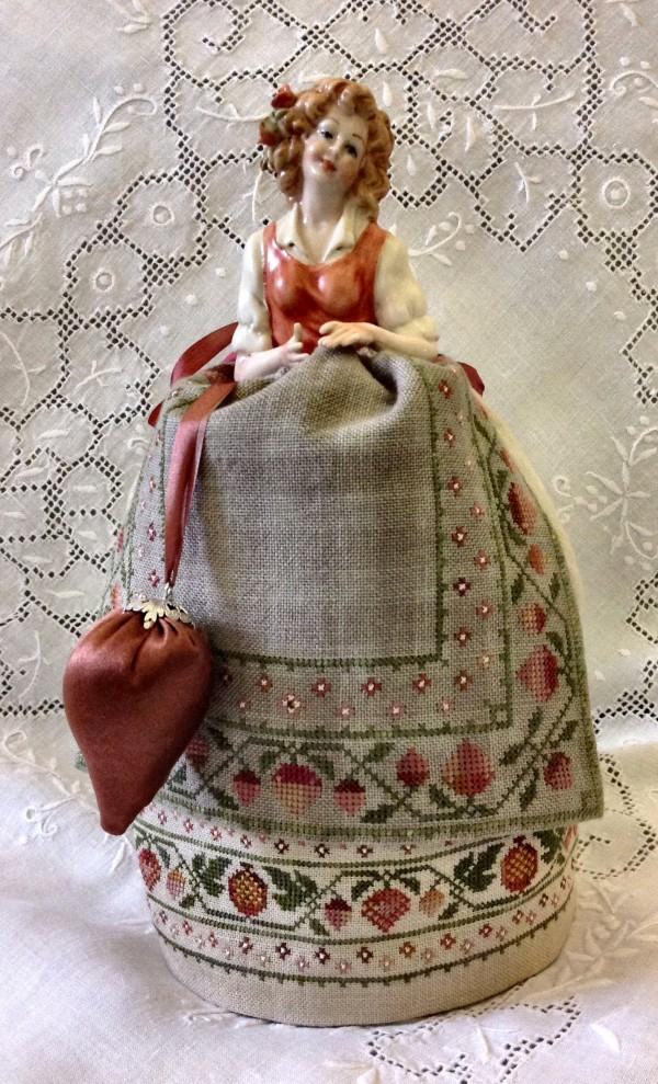 Monica – An Italian Capodimonte Pincushion Doll by Giulia Punti Antichi
