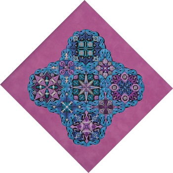 Threedles Needleart Design Topsy Turvy (Morning Glory)-THREADS and BEADS