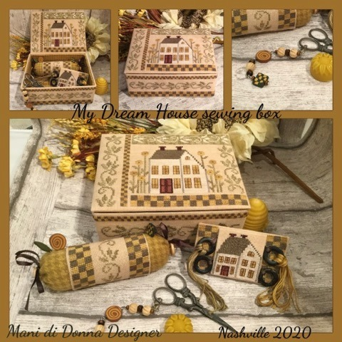 My dream house sewing box by Mani di Donna