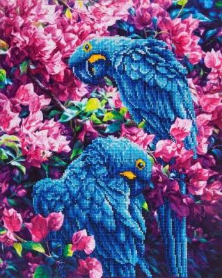 Blue Parrots by Diamond Dotz